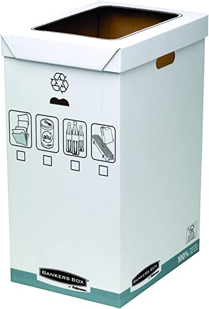 Bankers Box System - Papelera de reciclaje, blanco: Amazon.es ...