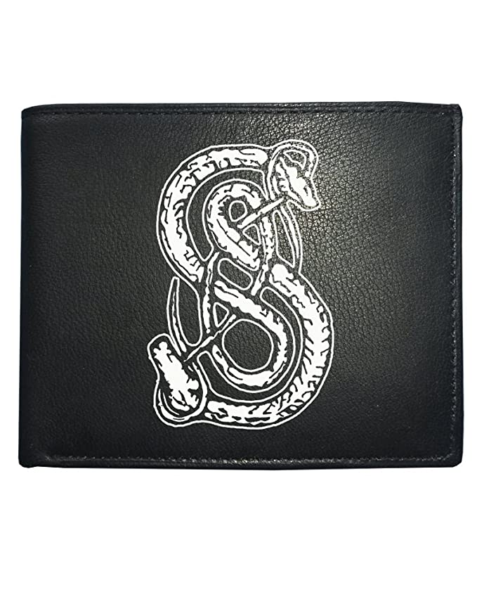Lokis Snake Norse Mythology God Symbol Mens Leather Wallet From
