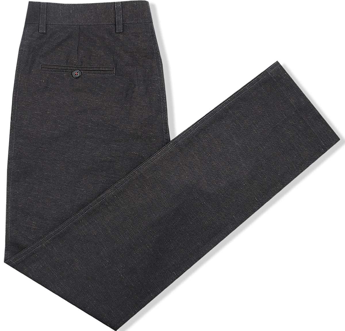 French crown Chocolate Brown Regular fit Linen Trouser 32