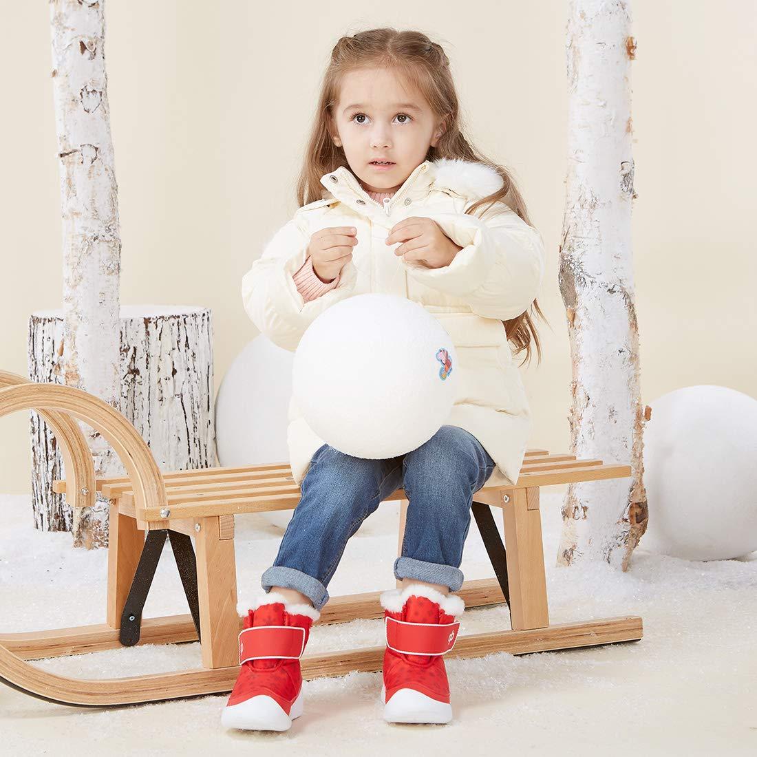 BMCiTYBM Toddler Winter Snow Boots Kids Boys Girls Baby Outdoor Warm Faux Fur