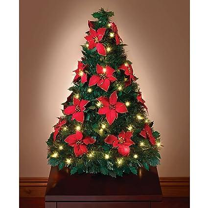 Hammacher Schlemmer Pop Up Poinsettia Tabletop Tree - Amazon.com: Hammacher Schlemmer Pop Up Poinsettia Tabletop Tree