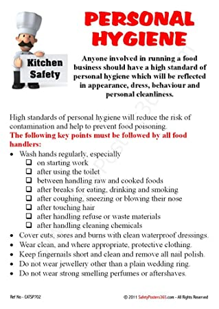 Safety Poster for Catering : Personal hygiene - Kitchen Safety (A2 ...