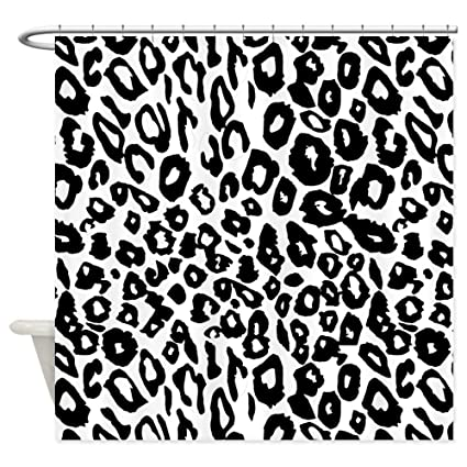 Image Unavailable Not Available For Color CafePress Black And White Leopard Print Shower Curtain