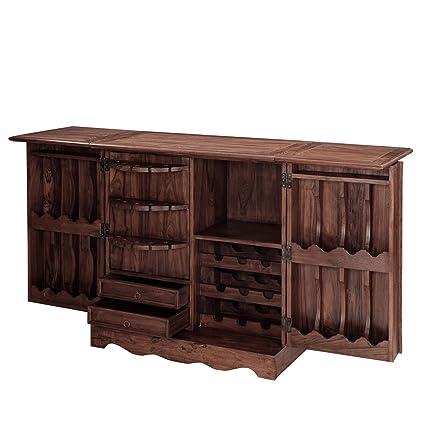 Inhouz INHZ0855(WL) Bar Cabinet (Brown)