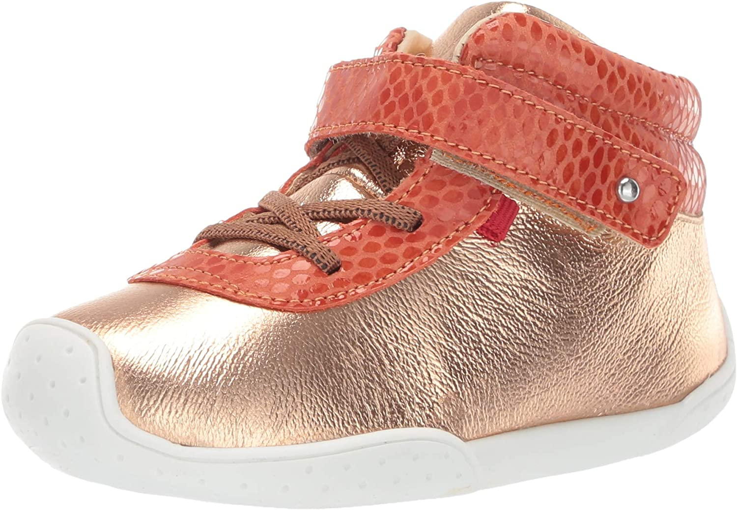 Rose Gold//Coral Snake Marc Joseph New York Toddlers Baby Boys//Girls Leather Double High Top Velcro Strap Loafer 5 M US