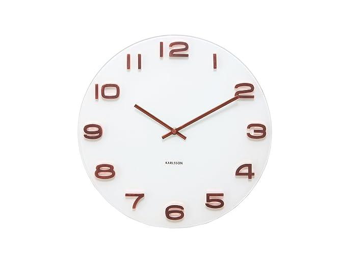 23 opinioni per Karlsson Vintage-Orologio da parete con cassa 6x35x35 cm bianco e rosso