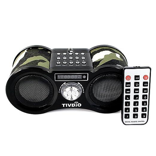 8 opinioni per Tivdio Stereo Portatile FM Radio, Porta USB, Scheda Micro SD, Formato MP3