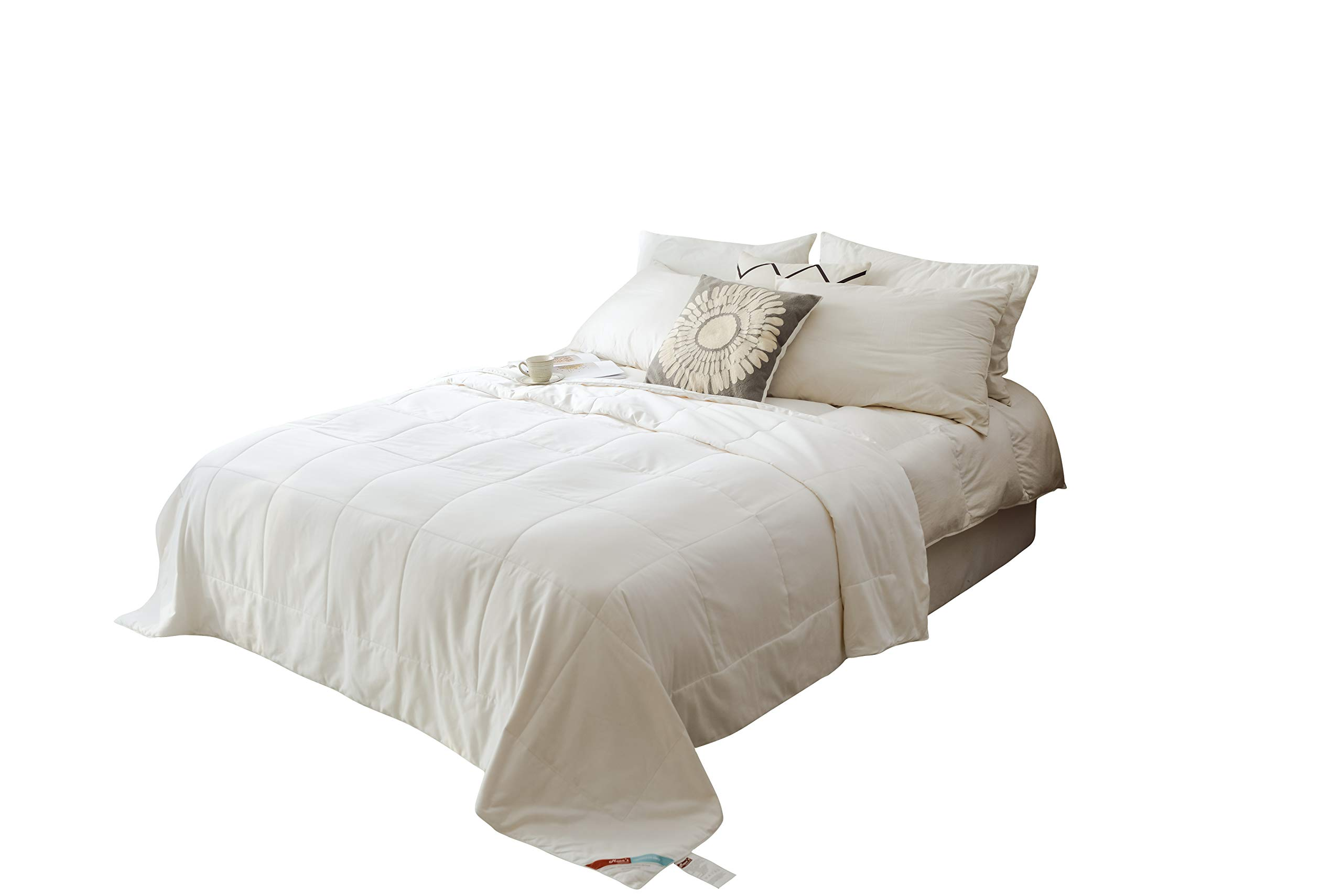 MOON'S SLEEPWARES [ Machine Washable [ Queen Size ] [ 4.5 Tog Summer ] [ 100% Pure Silk Filling ] Silk Filled Duvet SDMW220x230-1