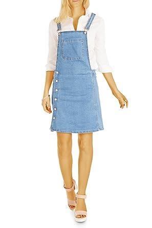 Bestyledberlin Damen Latzkleid Enges Jeanskleid Trägerkleid Denim