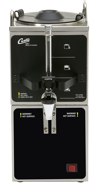 Wilbur Curtis Gemini 1.5 Gallon Satellite Dispenser And Warmer Stand - Commercial Beverage Dispenser that Preserves Flavor and Prevents Heat Loss - GEM-3-5 (Each)