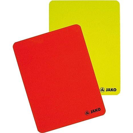 Jako Juego de Tarjetas de árbitro, Color Rojo/Amarillo, Talla única