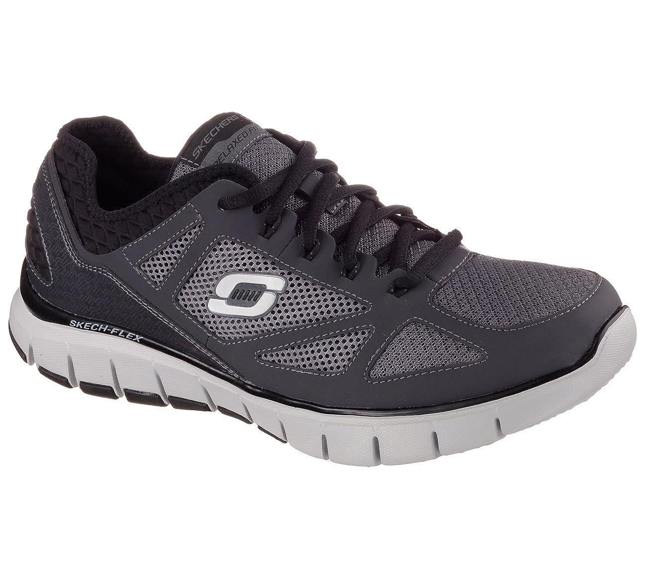 Skechers - Zapatillas para hombre gris gris/negro: Amazon.es: Zapatos y complementos