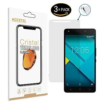 BQ Aquaris M5.5 Protector cristal templado - RE3O® 3 x Protector de pantalla cristal templado vidrio templado para BQ Aquaris M5.5 5,5 pulgadas, ...