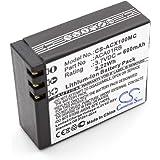 vhbw Li-ION Batterie 600mAh (3.7V) pour Appareil numérique camescope Activeon CX, CX Gold, CX HD