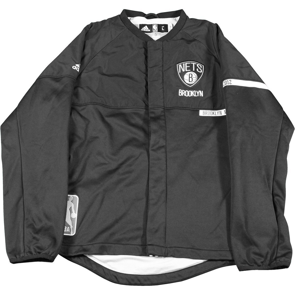 b75da9453716 Qunicy Acy  13 Brooklyn Nets Game Used Black White Home Warmup Jacket (XL)  at Amazon s Sports Collectibles Store