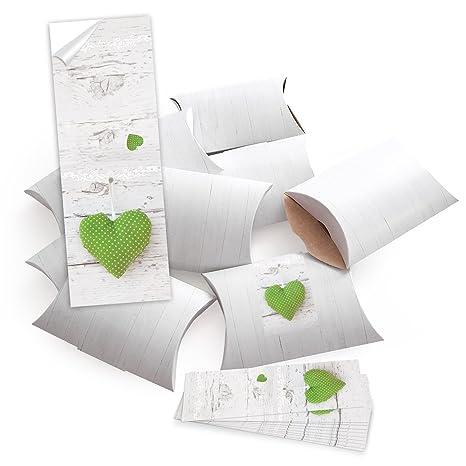 50 piccolo regalo scatole regalo scatole di cartone, Bianco (14,5 X ...