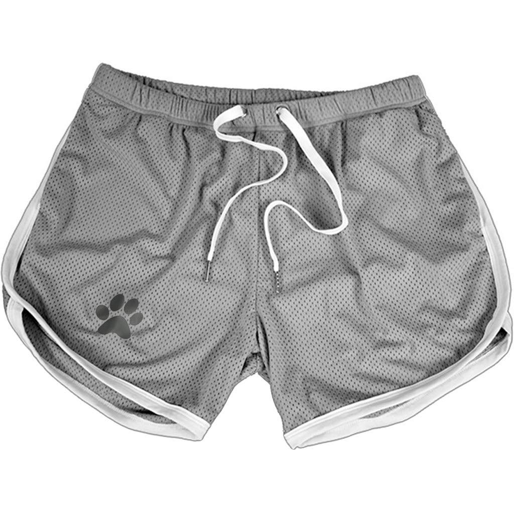 zarupeng✦‿✦ Verano de los Hombres Ocio de Secado r/ápido Permeable al Aire con cord/ón Deportivo Pantalones Cortos Deportivos