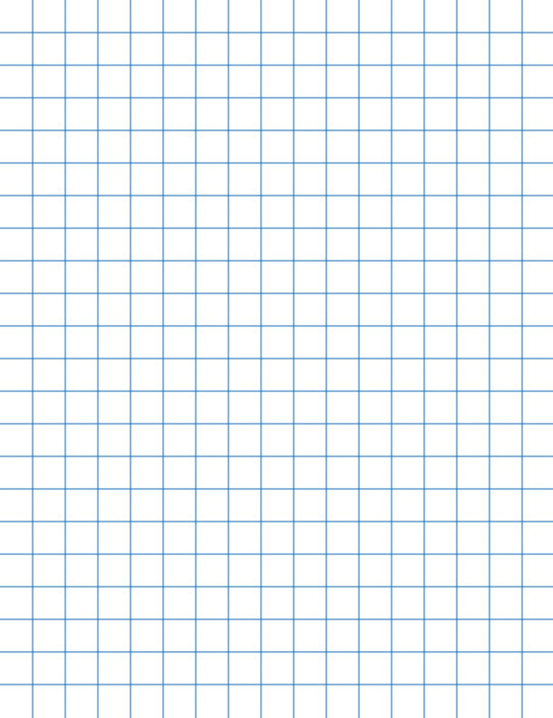 School Smart 16 pound Bond Graph Paper - 8 1/2 x 11 inches - Ream of 500 - White