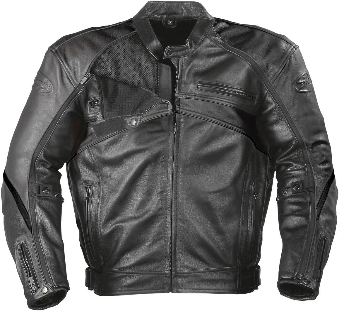 Joe Rocket Superego Men's Hybrid Leather/Mesh Motorcycle Jacket