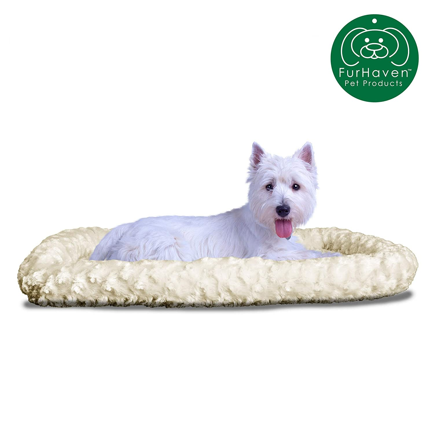 Fits 24 X 36 Large Strawberry Fur Haven Nap Ultra Plush Bolster for Kennels and Crates