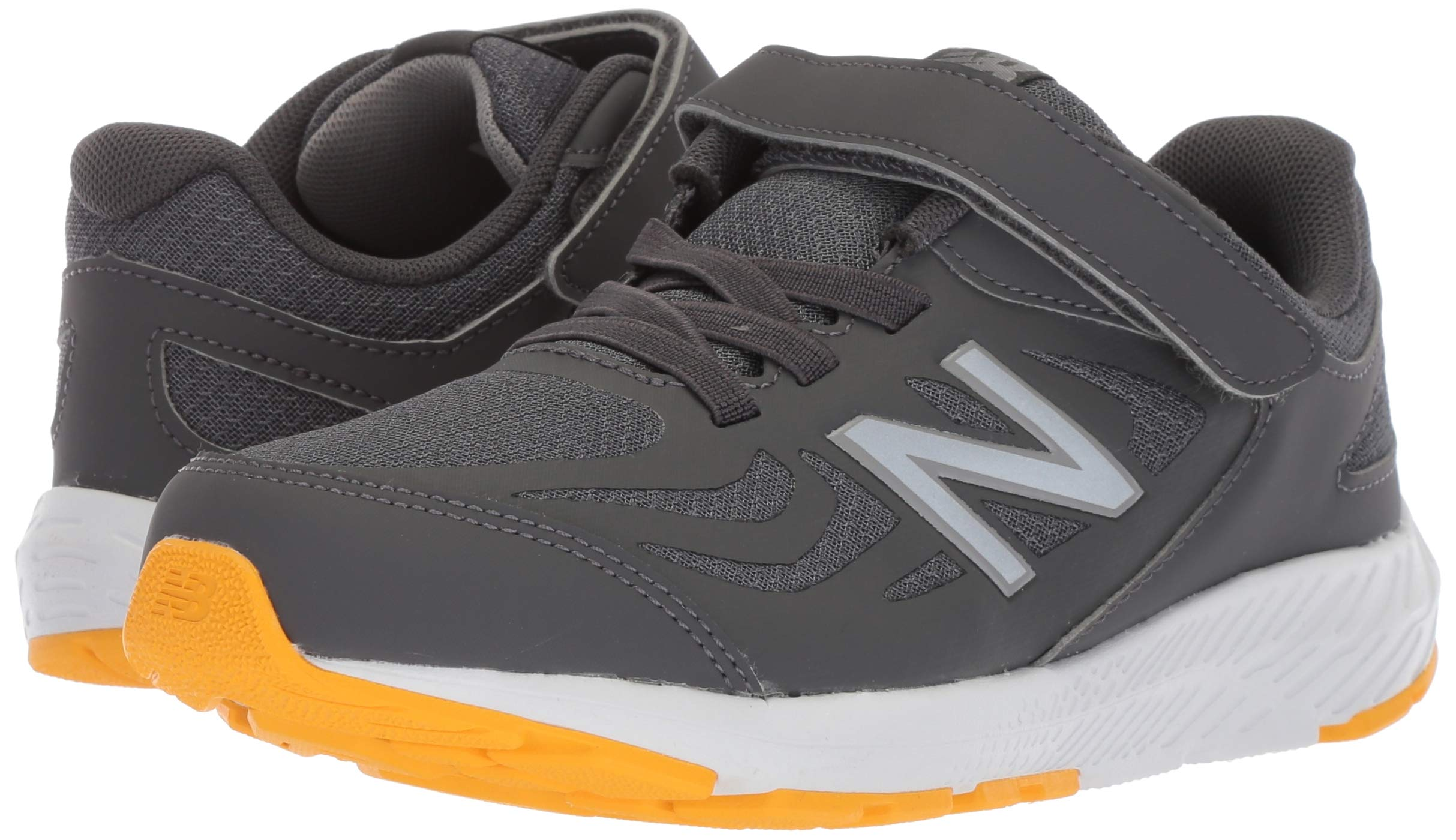 New Balance Boys' 519v1 Hook and Loop Running Shoe, Magnet/Phantom, 2 M US Infant by New Balance (Image #6)