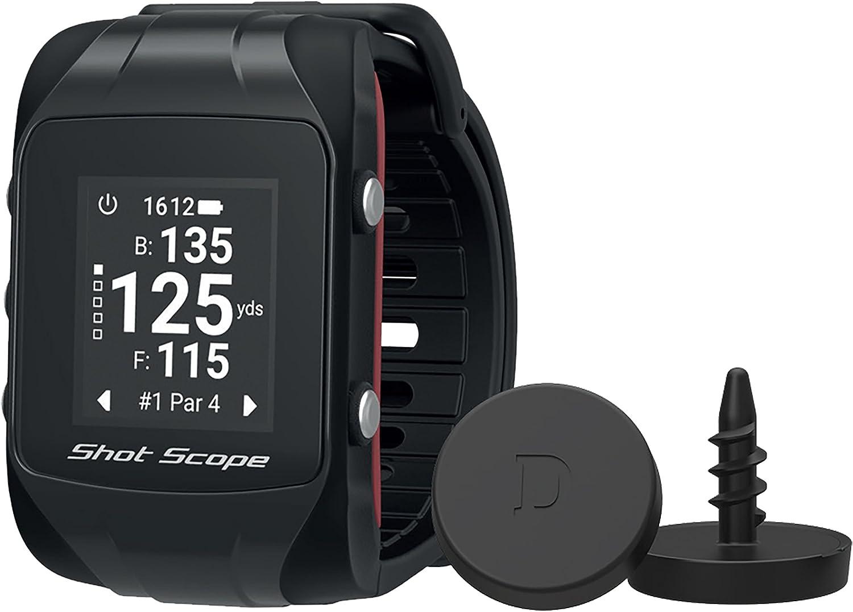 Shot Scope Erwachsene Watch Und Automated Performance Tracking System Shot Scope Black One Size Gagpsss Sport Freizeit
