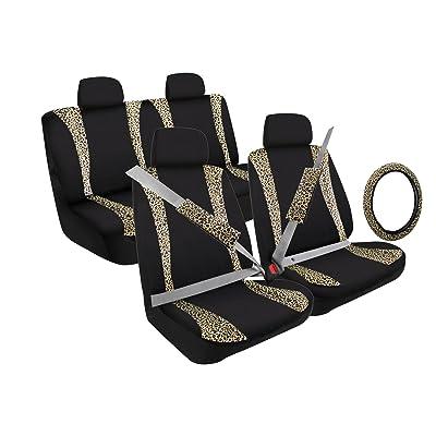 Pilot Automotive (SC-5020 13-Piece Leopard Trim Combo Kit Low Back Seat Cover: Automotive