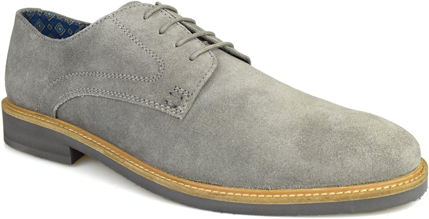 Businessman variable Honorable  Silver Street London Lime Mens Grey Suede Casual Shoes: Amazon.co.uk: Shoes  & Bags