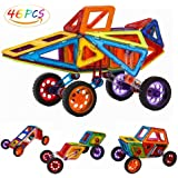 Anpress 46 PCS Magnetic Building Blocks,Building Construction Toy Stacking Toys for Boys Girls, Magnet Tiles Kits for Kids (Above 3 Year-Old )