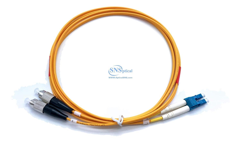 光学式SNS LC/UPC to FC/UPCデュプレックスシングルモードos2 9 /125パッチコード 2M/6ft SNS-LC/U-FC/U-DOS2-2M 2M/6ft  B07CWDT2L3