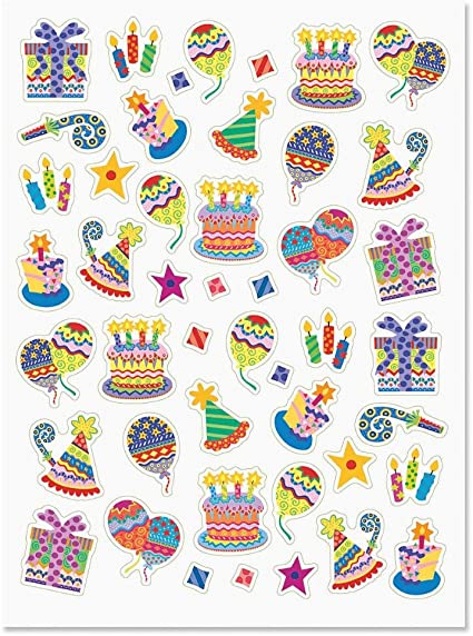 amazon com current colorful celebration birthday party stickers set of 92 on 2 sticker sheets happy birthday stickers birthday party stickers toys games current colorful celebration birthday party stickers set of 92 on 2 sticker sheets happy birthday stickers birthday party stickers