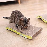 SCDCWW Cat Scratching Board S-Curved Cardboard Cats Scratching Mat with Catnip Scratcher for Kitten Cat Corrugate Paper…