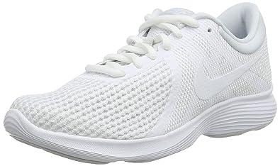 sale retailer 27809 6907d Nike WMNS Revolution 4 EU, Chaussures de Running Femme, Multicolore  White-Pure Platinum