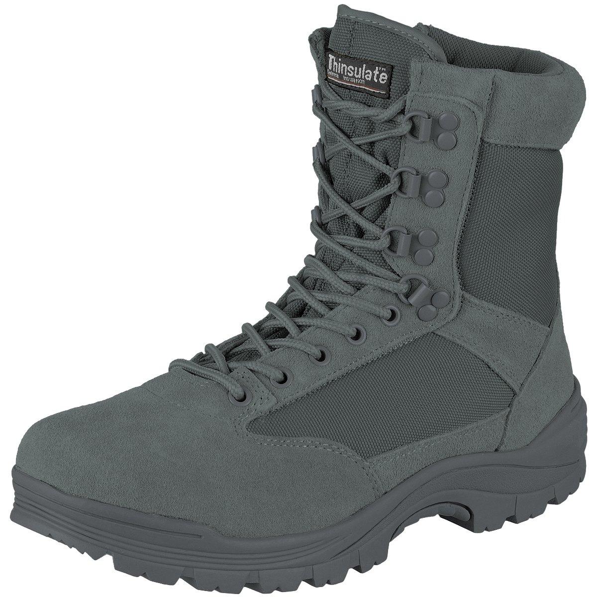 Mil-Tec Men's Tactical Zipper Boots Urban Grey Size 11 UK / 12 US