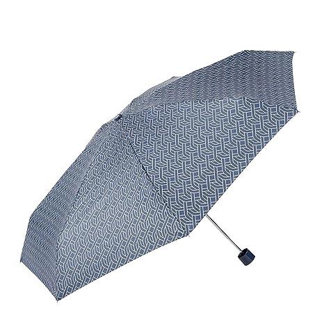 EZPELETA Paraguas Plegable Mini de Mujer. Manual y con puño Recto. Incluye Funda de