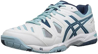 ASICS Womens GelGame 5 Tennis Shoe WhiteBlue SteelCrystal Blue