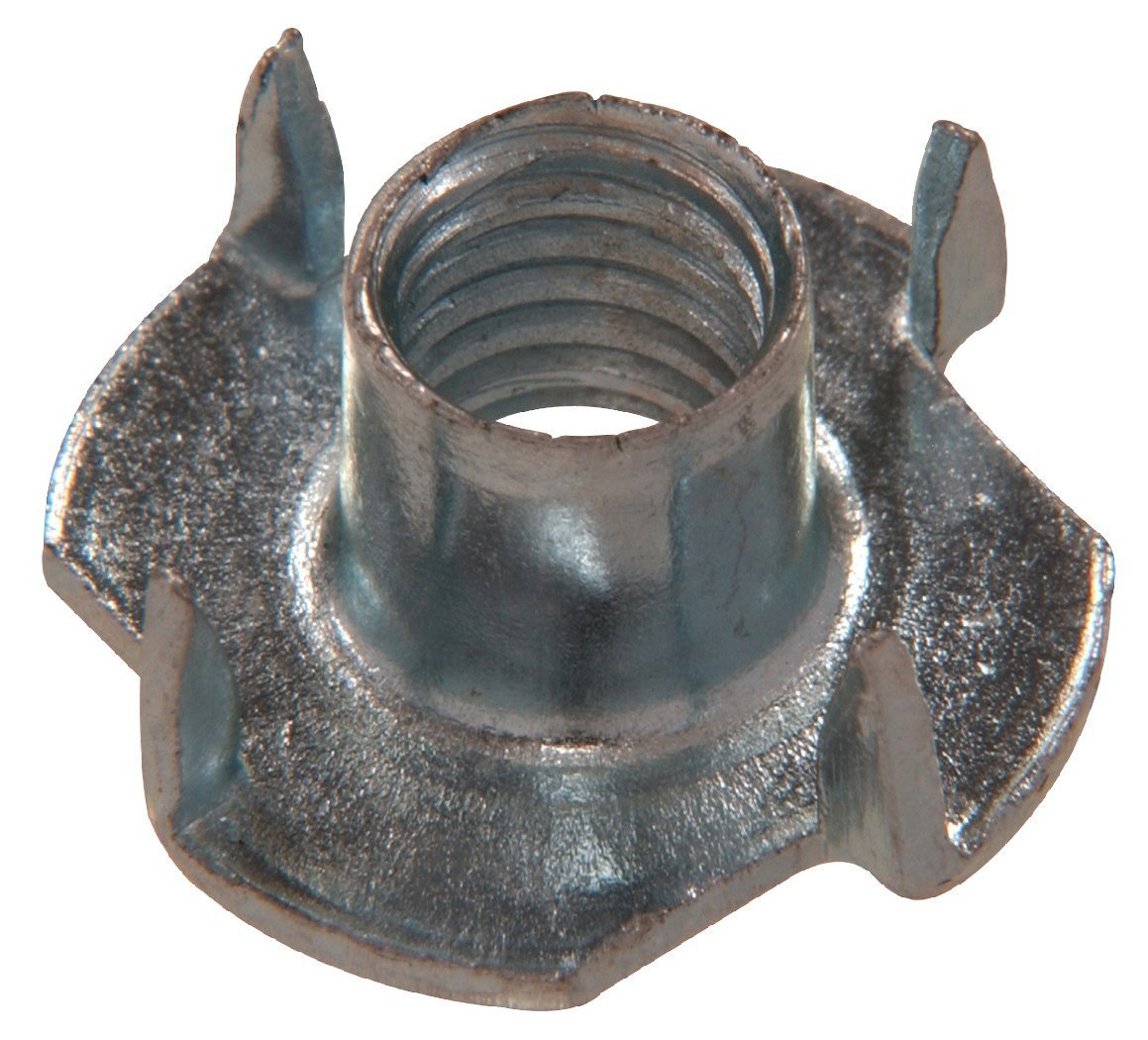 The Hillman Group 180297 Pronged Tee Nut, 1/4-Inch by 20-Inch (2 Packs of 100) by The Hillman Group