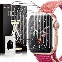 TAURI 6 Pack Screen Protector Voor Apple Watch Serie 7 45mm Bubble-vrij Eenvoudige Installatie HD Clear TPU Beschermende…