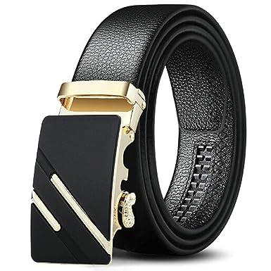 ROMQUEEN Cinturón para Hombre Cinturón Hombre Sin Metal ...