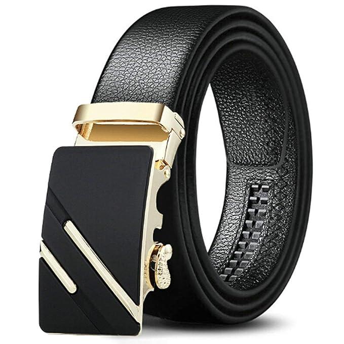 SonMo Cinturón para Hombre Cinturón Hombre Sin Metal Traje ...