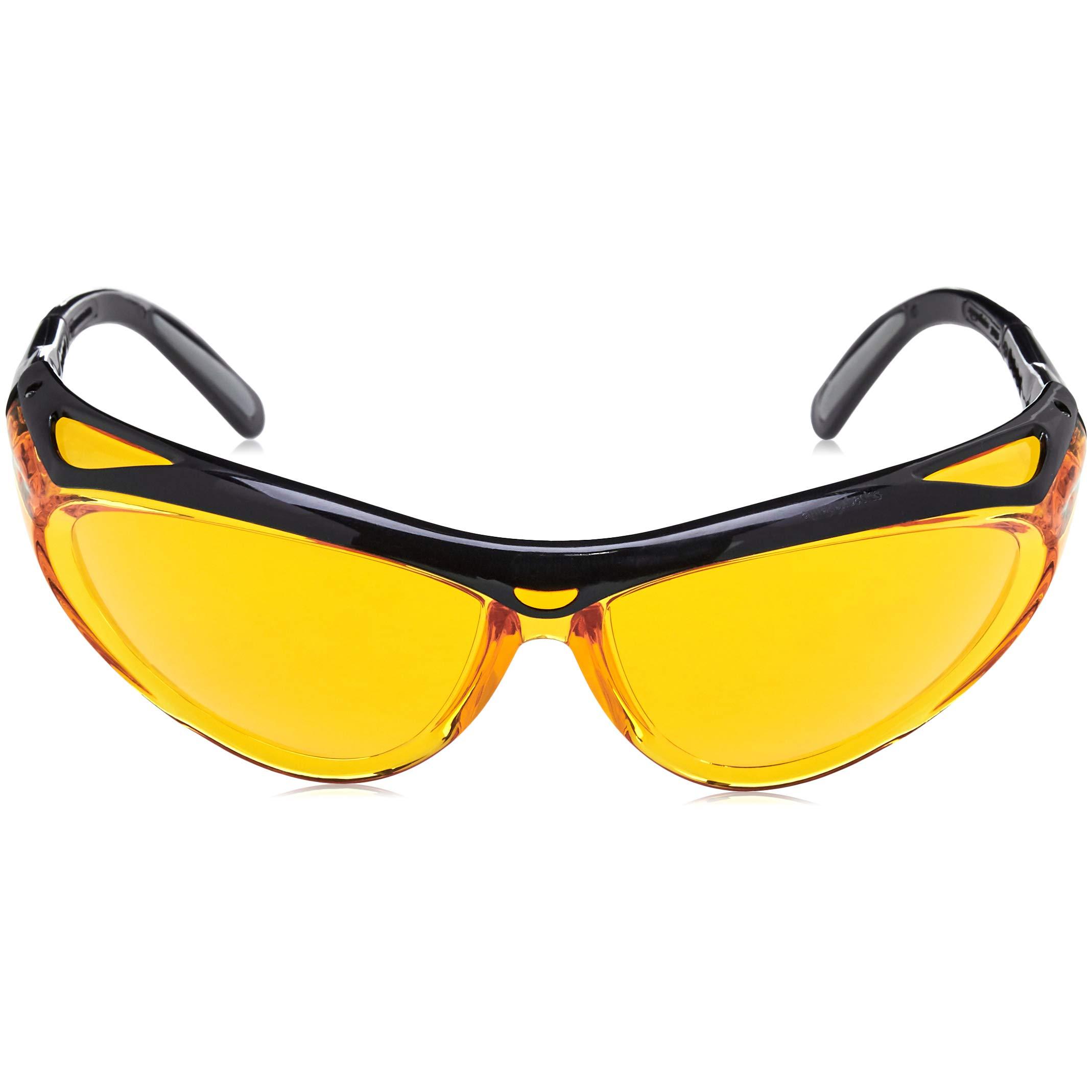 AmazonBasics Blue Light Blocking Safety Glasses, Anti-Fog, Orange Lens, 6-Count by AmazonBasics (Image #4)