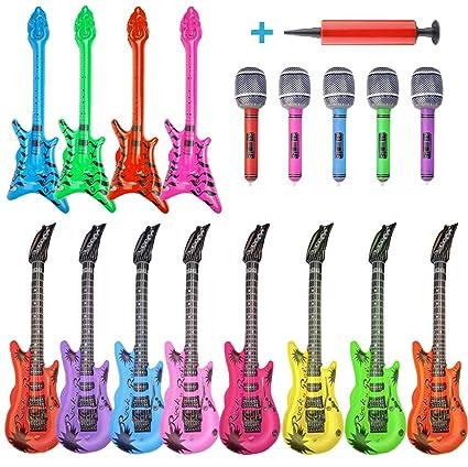 Amazon.com: Juego de 17 piezas inflables para guitarra ...