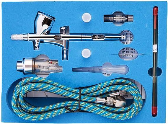 TAOtTAO Dual Action 3 - Compresor de aire con aerógrafo de pintura ...