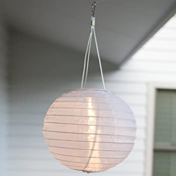 Lights4fun 3er Set Led Solar Lampion Garten Deko Weiß Amazonde Garten