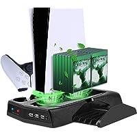 Suporte de carregamento vertical com ventilador de refrigeração para PS5 Edição Digital/Ultra HD, estação de…