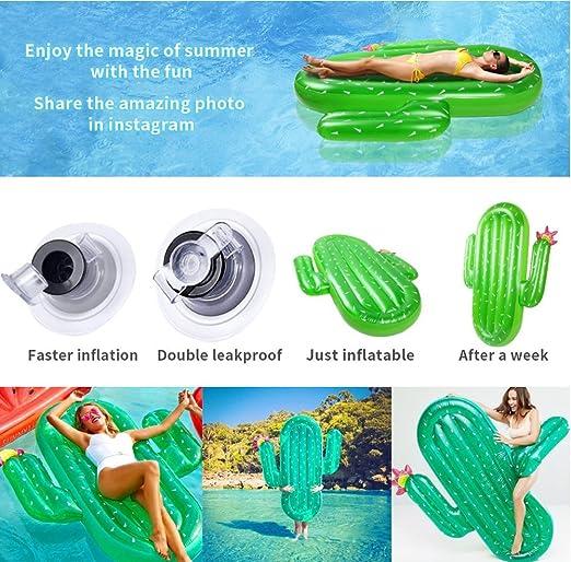 SKYTEARS Hinchable Piscina Cactus Flotador Gigante Inflable Cactus Colchoneta Playa (C): Amazon.es: Juguetes y juegos