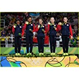 """Poster Glossy Photo Paper Final Five Gymnastic USA Team Rio 2016 Art For Home Room Decor (13""""x19"""" inches)"""