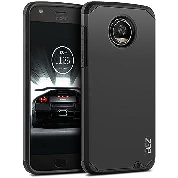 BEZ Funda Moto Z2 Play, Carcasa Compatible para Motorola Moto Z2 Play, Antideslizante Ultra Híbrida Gota Protección, Cover Anti-Arañazos con Absorción ...