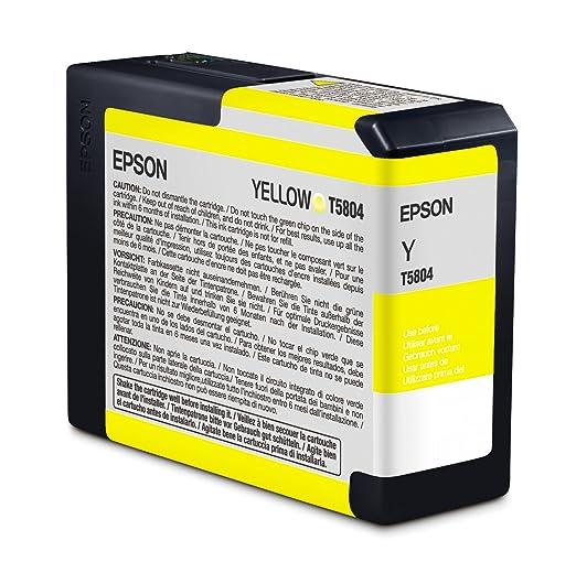 2 opinioni per Epson C13T580400 Cartuccia Inkjet Ink Pigmentato Ultrachrome K3 T5804, Giallo
