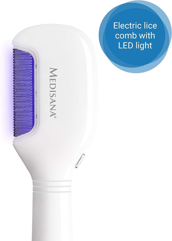 Medisana LC 870 peine eléctrico para piojos con iluminación LED, peine contra piojos y liendres, peine para liendres, adecuado para perros y gatos: Amazon.es: Salud y cuidado personal